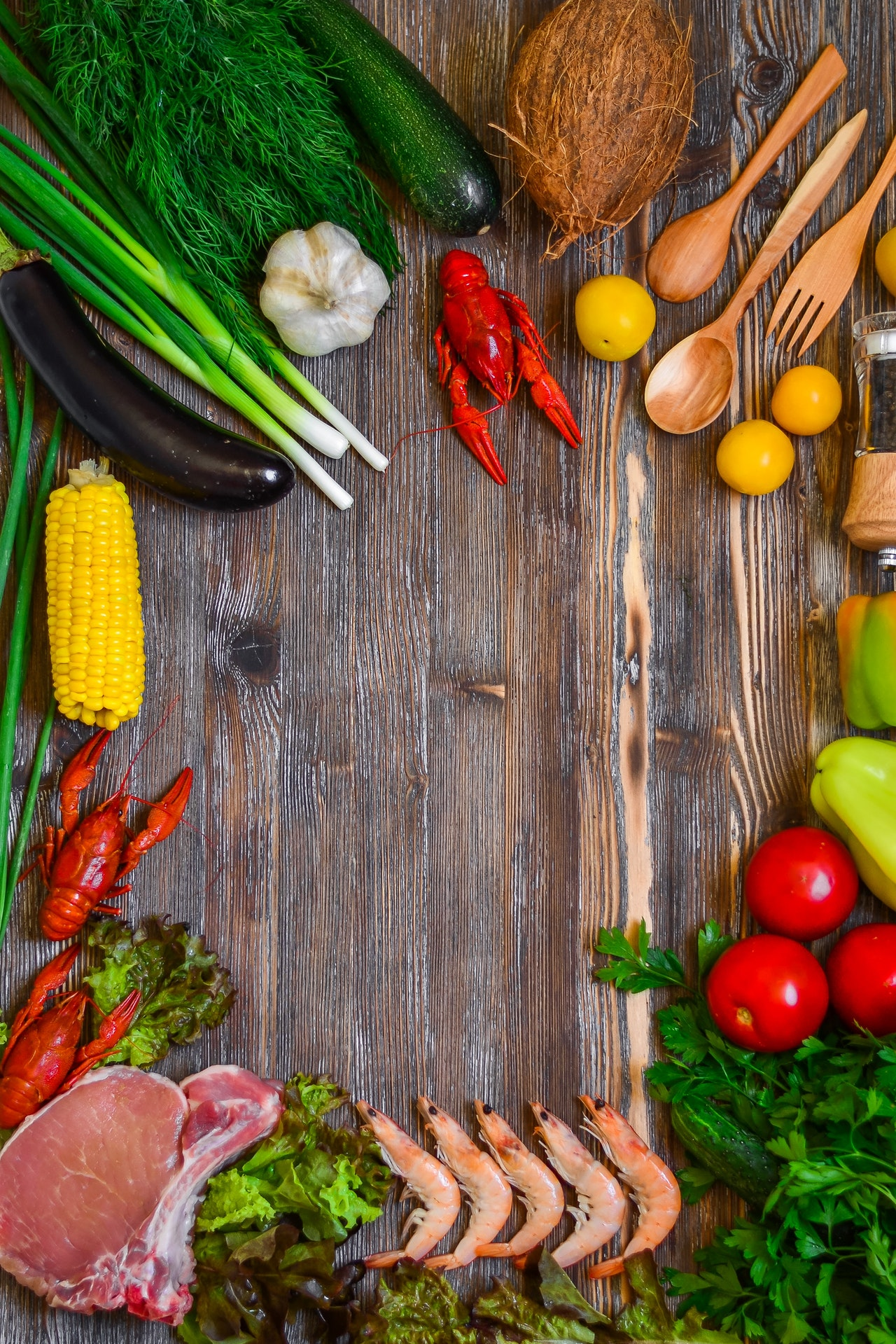 assorted vegetables on wooden table